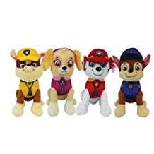 NEW PAW PATROL Plush Toy set SKYE, CHASE, MARSHALL,RUBBLE 7 inch KIDS TODDLER