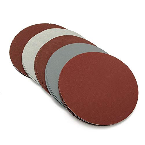 LUOKAOO 30pcs 75mm-80mm /3'' Grit 800 1000 1200 1500 2000 3000 Sanding Discs Hook Loop Sandpaper Round Sandpaper Disk Sand Sheet