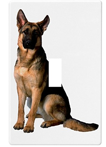 German Shepherd Dog Wallplate Decorative Switch Plate Cover (1 Gang. -