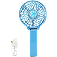 NNDA CO Foldable Handheld Mini Fan USB Power Rechargeable Battery Operated Hand Bar Fans, for Traveling,Fishing,Camping,Hiking,Backpacking,BBQ,Baby Stroller,Picnic,Biking,Boating(ABS) (blue)