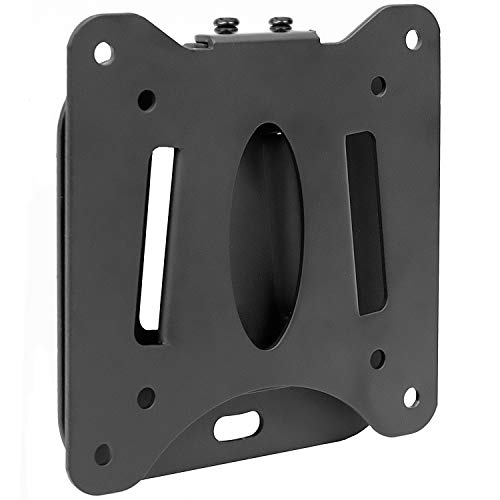 Mount-It! Low Profile Fixed TV Wall Mount For Small Televisions Computer Monitors, Fits 19, 20, 22, 24, 27, 29 30 and 32 Inch, Quick Disconnect, 60 Lbs Capacity, VESA 75x75 - Fixed 30 Lcd