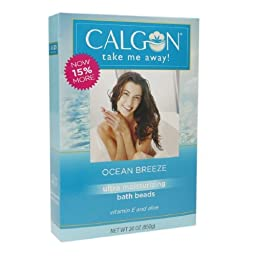 Calgon Ultra Moisturizing Bath Beads 30 Oz (Ocean Breeze, Pack of 2)
