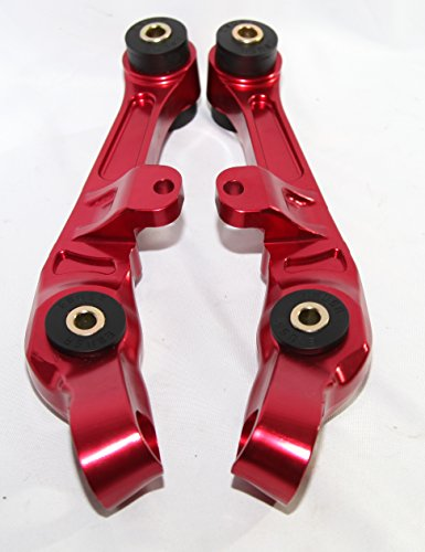 1 Pair Front Lower Control Arms for 2003-2007 Nissan 350Z Coupe 2D/Convertible 2D 2003-2007 Infiniti G35 Base Coupe 2D (RED)