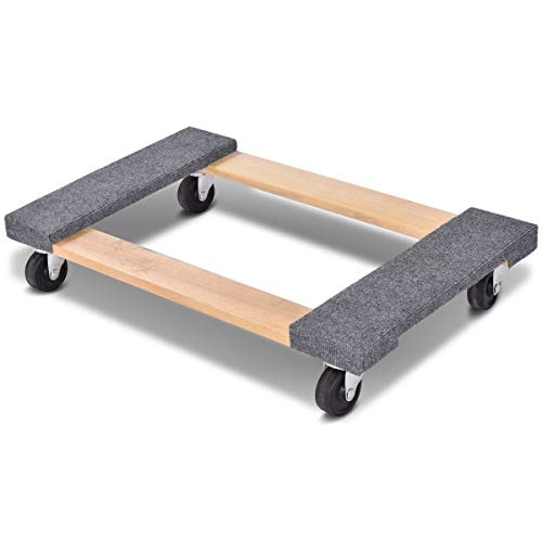 Toolsempire Four Wheeled Heavy Duty Furniture Dolly Moving Carrier Casters for Heavier Items 1000lbs Capacity 30