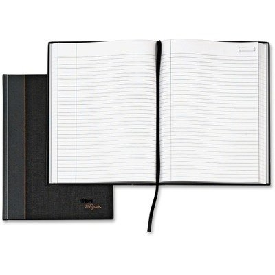 - RoyaleÃ'® Business Notebook, Casebound, 10 1/2 x 8, Black/Gray (TOP25231) by Tops