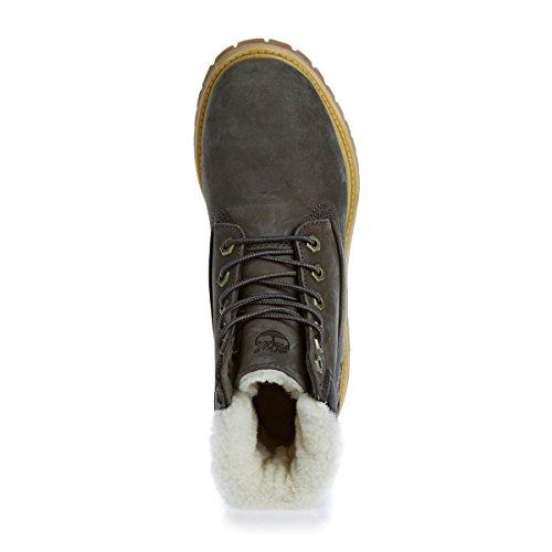 Inch Grey Shearling Premium Donna Boot 6 Timberland Lined ASFUqgF1