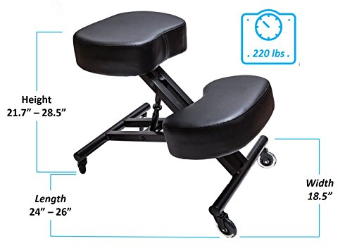 Sleekform Ergonomic Kneeling Chair M2 (Memory/Regular Foam), Adjustable Stool for Home, Office, and Meditation by Sleekform (Image #5)