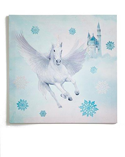Arthouse, Unicorn Castle Fairytale Glitter Wall Art Canvas, Kids Décor ()