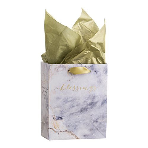 DaySpring Small Specialty Gift Bag - Treasured Blessings - Timeless Collection (71405)