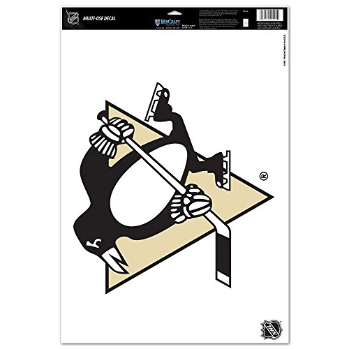 Wincraft NHL Pittsburgh Penguins 75398091 Multi Use Decal, 11 x 17, Black