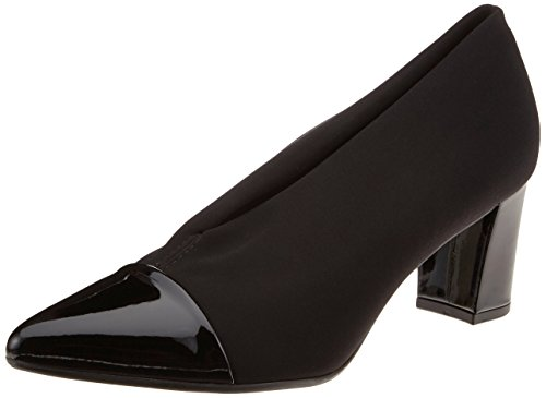 4 Black Black Schwarz Lack Peter Stretch UK Kaiser Toe Women's Noemita 693 Closed Heels 4x0xYBqz