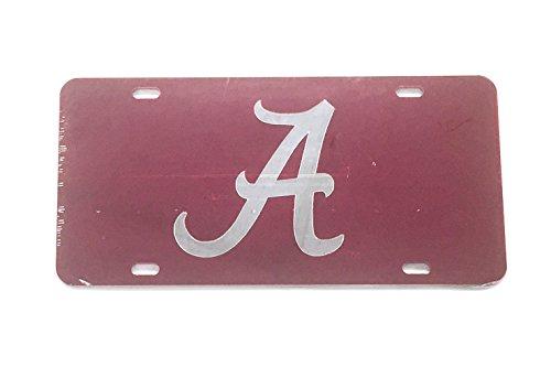 University of Alabama License Plate Tag Inlaid Mirrored Acrylic 10107