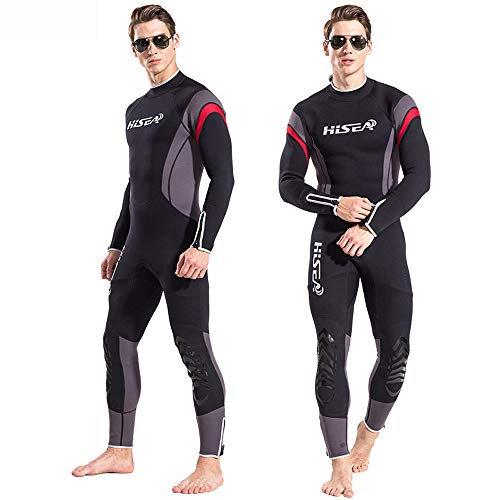 Pandaie Mens Wetsuit Full Body 2.5MM Neoprene Thermal Sun Protection Diving Suit Swim Surf Snorkeling