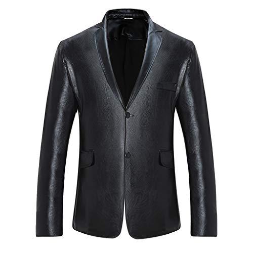 De Ropa Vida Abrigo Black Sencillo Trajes Estampado Jacket Apto Blazers Encanto Casual Tops Traje Chamarra Dos Chaqueta Chaquetas Para Hombre Hombres Delgado Botón xEFqFRdw