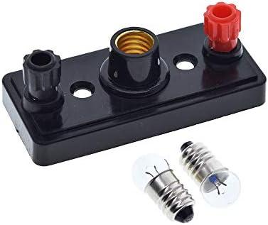 DIY Electronic kit Schraube Kleiner Lampensockel Strom Physikalisches Experiment Instrument Ausrüstung Schule Unterricht Kleine Lampen-Halters + Kleine Glühlampen