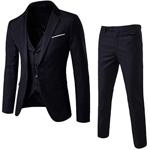 Mens Notch Lapel Modern Fit Suit...