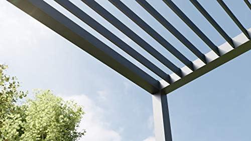Rexin REXOcube - Pérgola de Aluminio (2 x 2 m), Antracita: Amazon.es: Jardín