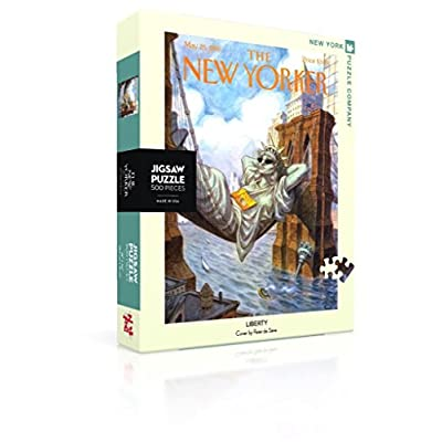 New York Puzzle Company - New Yorker Liberty - 500 Piece Jigsaw Puzzle: Toys & Games