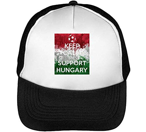 Hombre Snapback Calm Blanco Keep Support Negro Hungary Beisbol Gorras HwfwqZ6ca