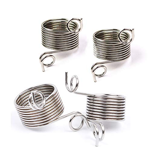 4 Pieces 2 Size Metal Yarn Guide Finger Holder Knitting Thimble for Crochet Knitting Crafts Accessories Tool