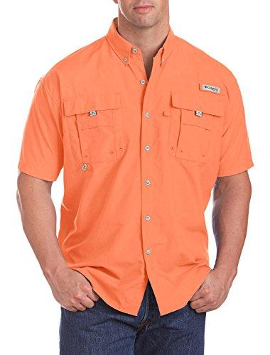 Columbia Men's Bahama II Short Sleeve Shirt, Bright Peach, 4X Tall