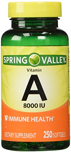 Spring Valley Vitamin A 8000 IU, 250 Softgels