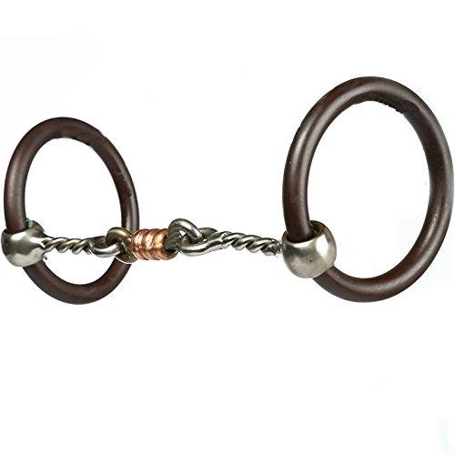 Professional S Choice Bob Avila Three Piece Twisted Wire (Twisted Dog Bone Snaffle)