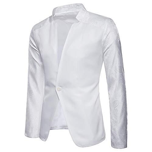4e0f29fb1a2c Jacke Knopf Einreiher Blazer Business Mantel Fit Sakko Anzug Slim Hochzeit  Männer 1 Lässiger Weiß Sannysis Herren Raglanärmel R6Zn0Snq