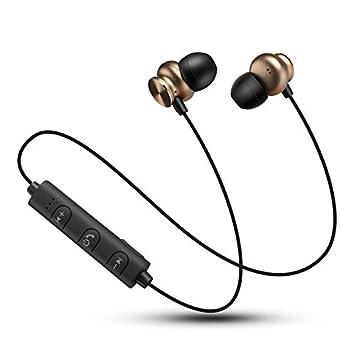 ZXzz Magnetismo Bluetooth Auriculares Estéreo Estéreo 4.2Metal Sportsheadphones Moda Inalámbrica Nueva Música, B