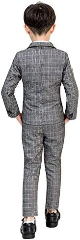 giminuoフォーマルスーツ 【2019】 ベスト チェック柄 4点セット 上品 子供スーツ スーツ 入学式スーツ 男の子 スーツ キッズ 人気タキシード 記念日 撮影 発表会