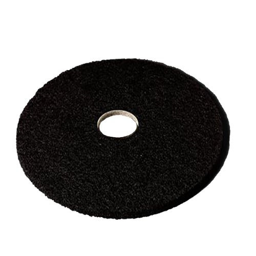 3M Low Speed High Productivity Black Floor Stripping Pad 7300 - Round, 12 inch Diameter, 0.5 inch Thick, Nylon, Perforated Center Hole, Removes Old Floor Finish, Dirt-heavy Buildup -- 5 per case.