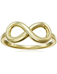 14k Gold Flashed Sterling Silver Infinity Ring, Size 8