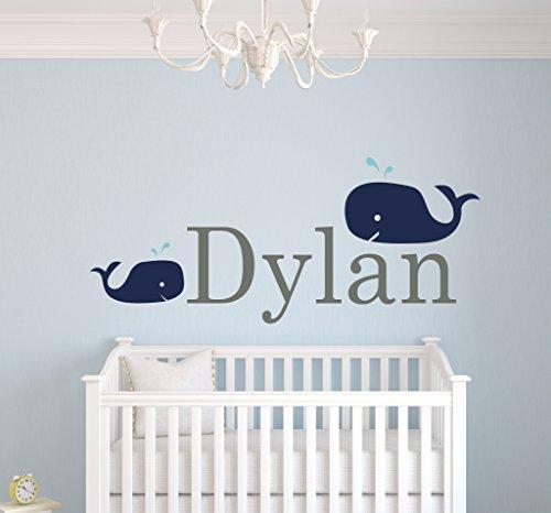 Amazoncom Custom Whale Name Wall Decals For Boys Baby Room - Nursery wall decals boy