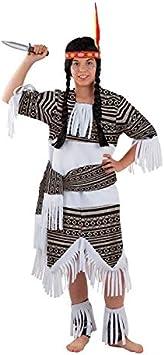 DISBACANAL Disfraz India Cherokee para niña - -, 8 años: Amazon ...
