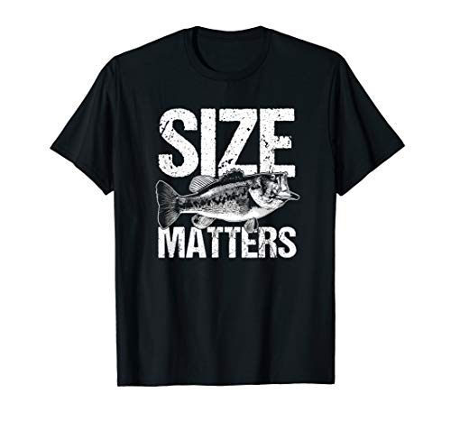Size Fish Matters Funny Bass Fishing Humor T-Shirt