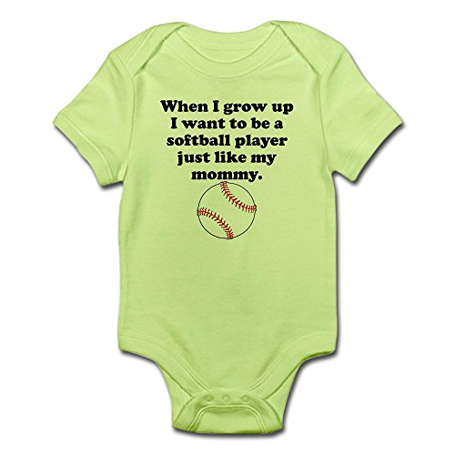 Onesie Softball (CafePress Softball Player Like My Mommy Body Suit Cute Infant Bodysuit Baby Romper)