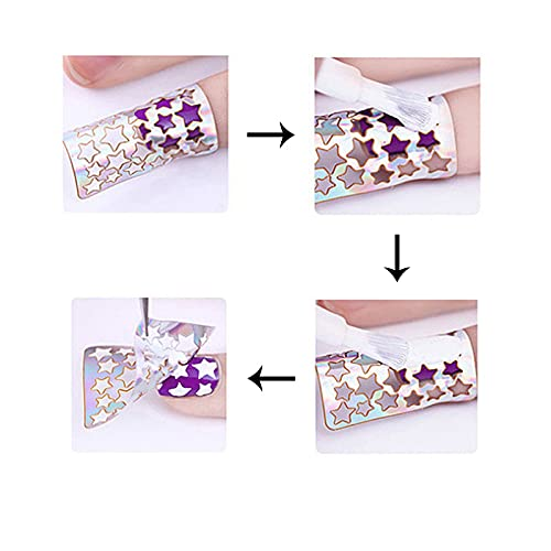 24 Sheets Nail Art Stickers, Different Styles Stencil Nail Art Stickers Set Designs Cute Nail Art DIY