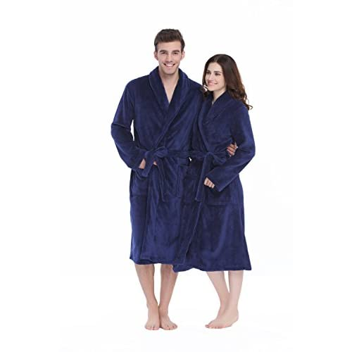 on sale Xmascoming Women\'s & Men\'s Coral Fleece Bath Robe Dressing ...