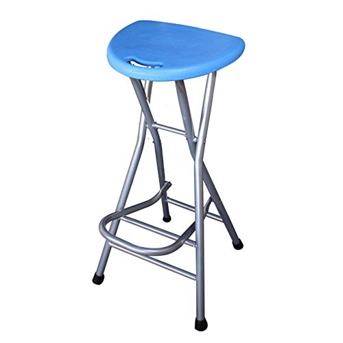 Be&xn Folding barstools, 28 inch High Stool Without Backs Plastic Pub Chair Counter bar Stool Chair for bar Home-Blue H72xW31cm(28x12inch)