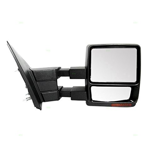 F150 Pickup Truck Mirror (Passengers Power Side Tow Mirror Heated Signal Puddle Lamp w/ Telescopic Dual Arms Replacement for Ford F-150 Pickup Truck 7L3Z17682AE)