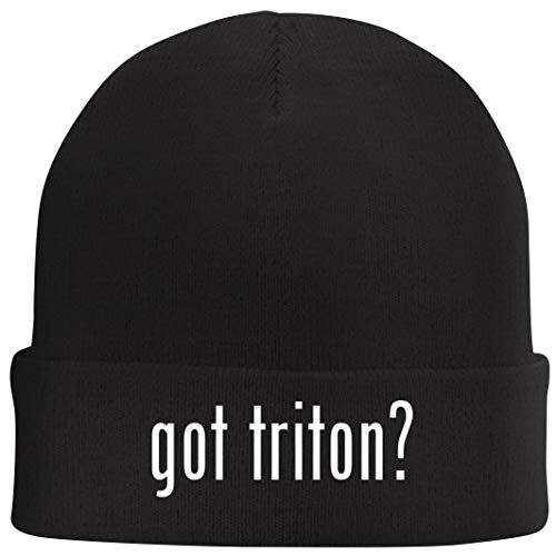 Tracy Gifts got Triton? - Beanie Skull Cap with Fleece Liner, Black