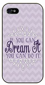 For Ipod Touch 4 Case Cover If you can dream it you can do it. Walt Disney - Black plastic case / Inspirational and motivational life quotes / AUTHENTIC