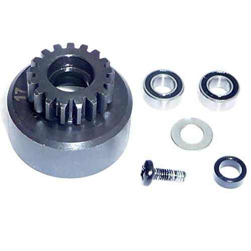 HPI Savage X F4.6 17T CLUTCH BELL &BEARINGS (Flywheel Engine Crankcase Carb 4.6