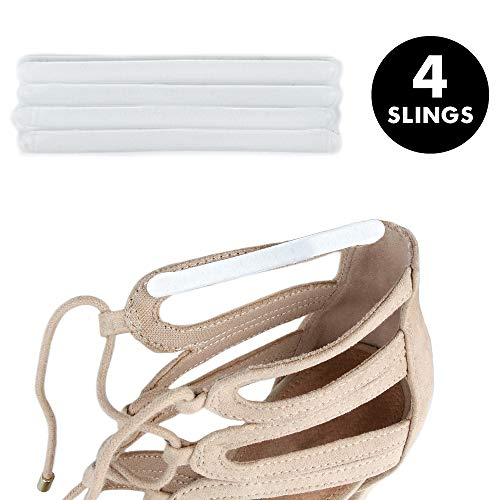 Heel Lovers Gel Adhesive Slings (4 Slings) - Strap Cushion Grips for High Heels, Wedges, and Ankle Strap Shoes