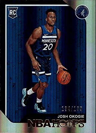98122eb3ca3 2018-19 Panini Hoops Premium Box Set Basketball  276 Josh Okogie SER199  Minnesota Timberwolves
