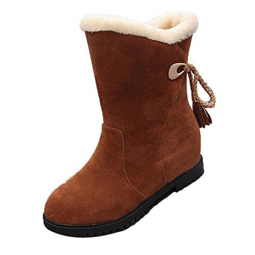 De Femmes Jaune Mode Cheville D'hiver Chaussures Talons Boots Covermason Bottes Neige Et gtvqw0R