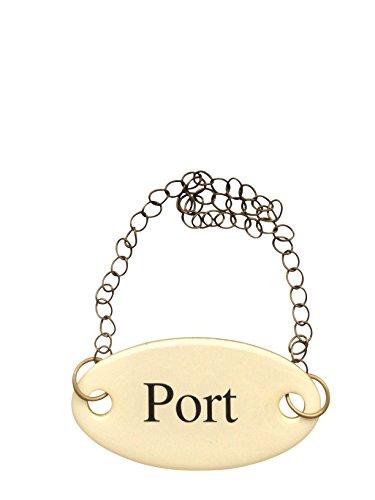 Duke Baron Vintage Brass Tag, Port with Chain (Wine Port Glass Vintage)