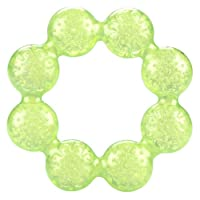 Nuby Pur Ice Bite Soother Ring Teether, Green