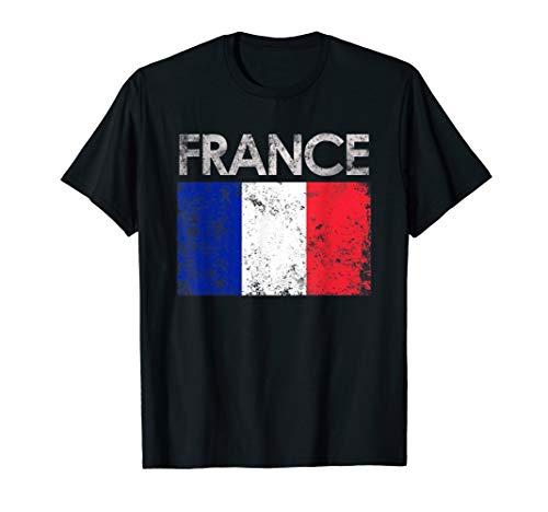 Vintage France French Flag Pride Gift T-Shirt ()