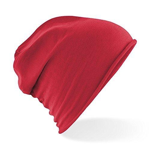 Gorro Unisex Mujeres Slouch Jersey Mind Hombres Unisex Aggressive rojo Gorro Gorro Largo Jersey qEFxwCOx